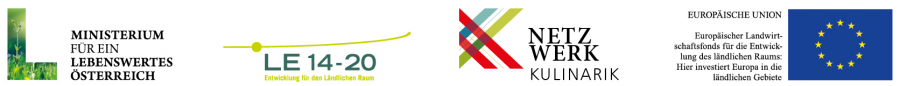 Netzwerk Kulinarik - Logoleiste mit Förderlogos